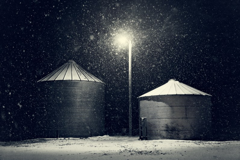 Frozen Grain Bins