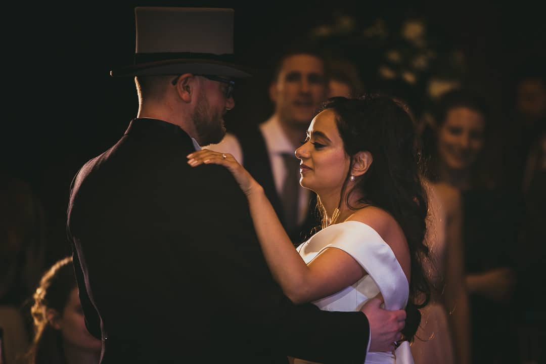 Close Up of bride & groom first dance