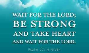 Psalm 27v14