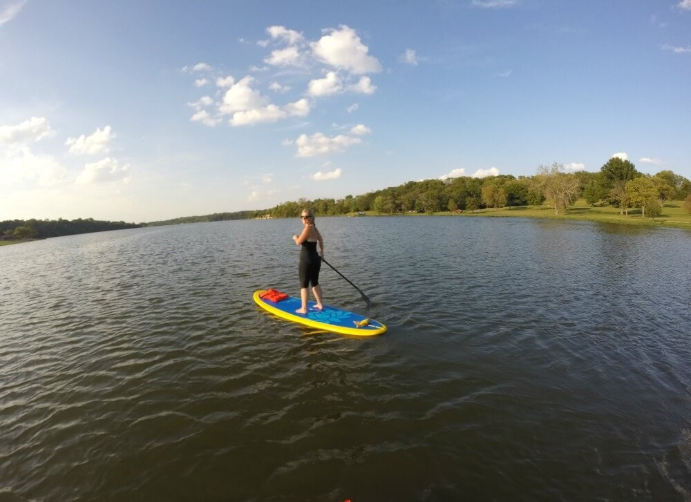 I love finding fun ways to workout, and Stand Up Paddle Board Yoga did not disappoint!  I might be a beginner, but I can't wait to get back out on the lake and do it again!