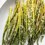 Oven Roasted Garlic Parmesan Asparagus is an easy and healthy vegetable to prepare that pairs with so many dishes!