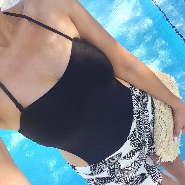 J.Crew polynesian floral shorts and one piece swimsuit   Beautifully Seaside