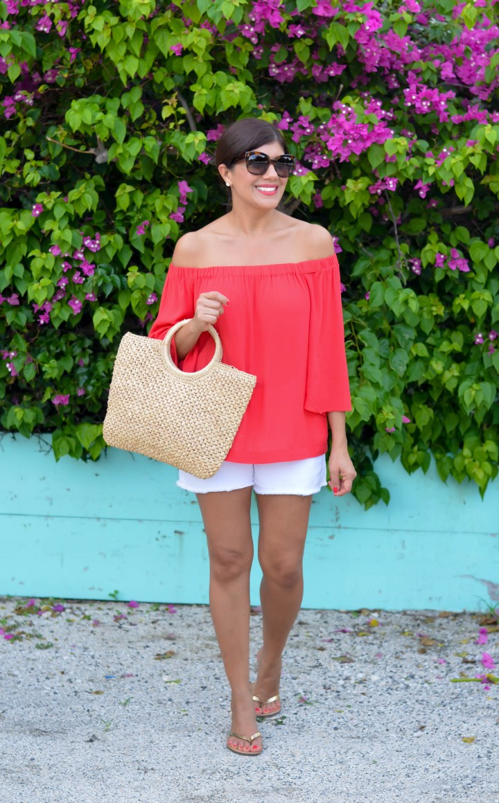 favorite off the shoulder bell sleeve top