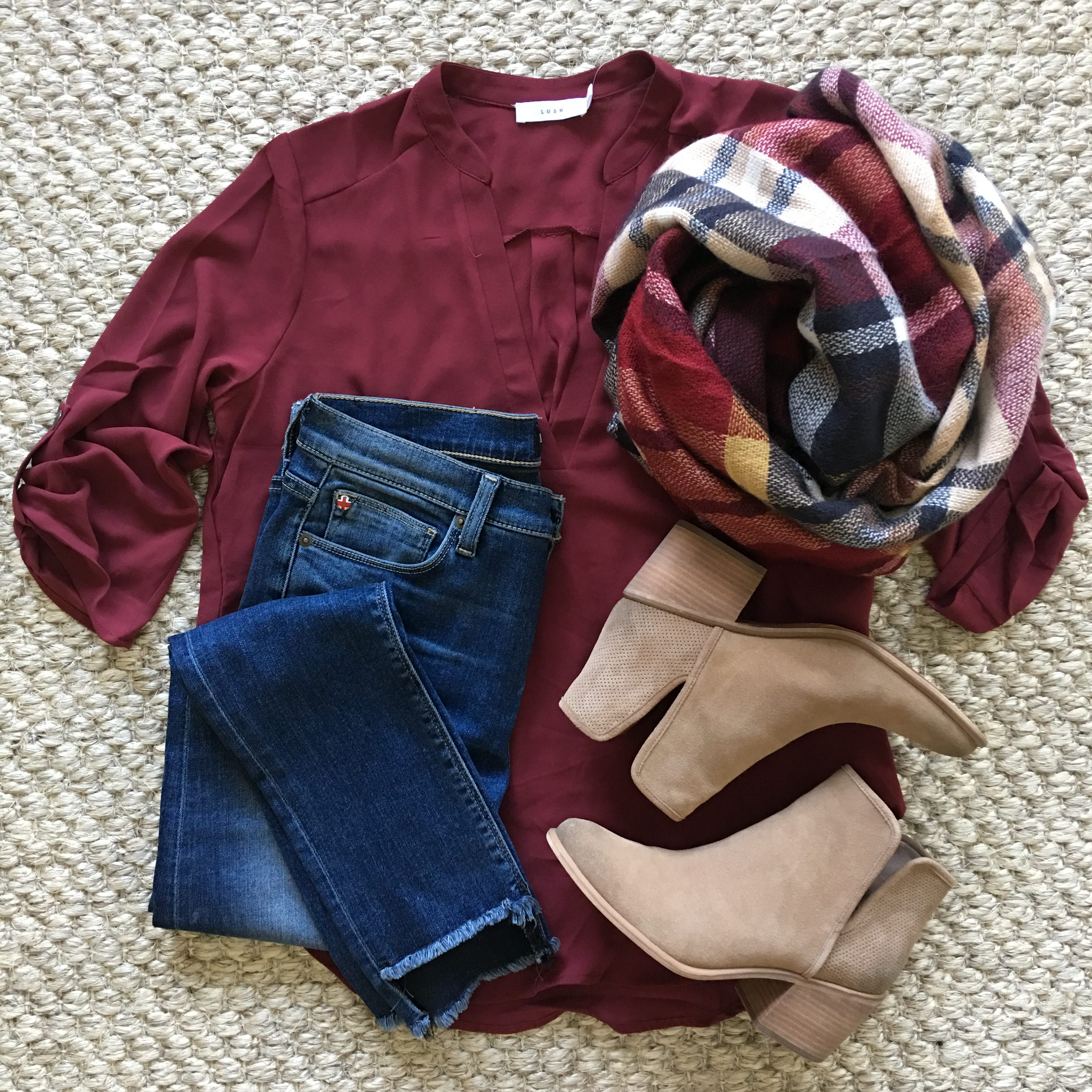 nsale Lush top and scarf