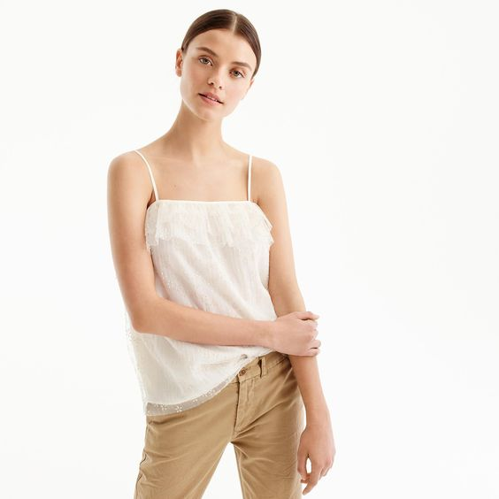 fluttery lace cami J.Crew