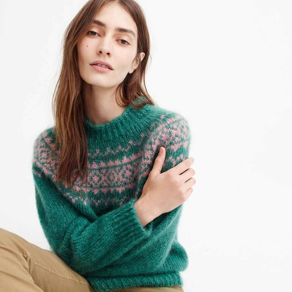 Harley of Scotland™ for J.Crew Fair Isle sweater in mohair