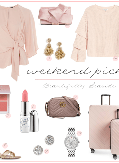 WEEKEND PICKS // BLUSH STYLES FOR THE NEW YEAR