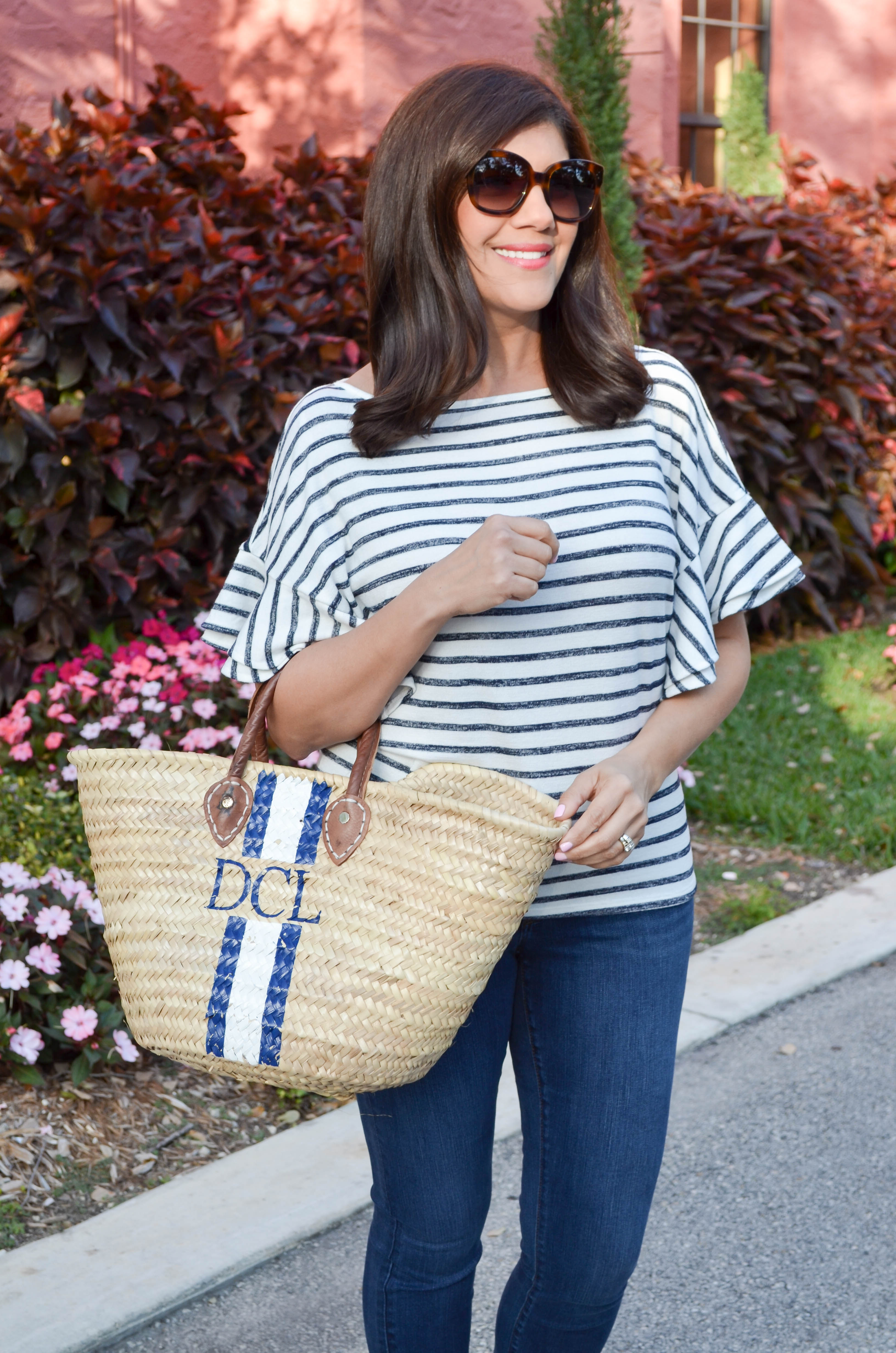 Stripe top for spring and summer