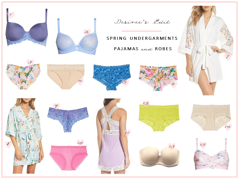 Spring Undergarments, Pajamas, and Robes