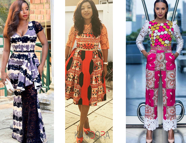 Ankara with Lace dresses