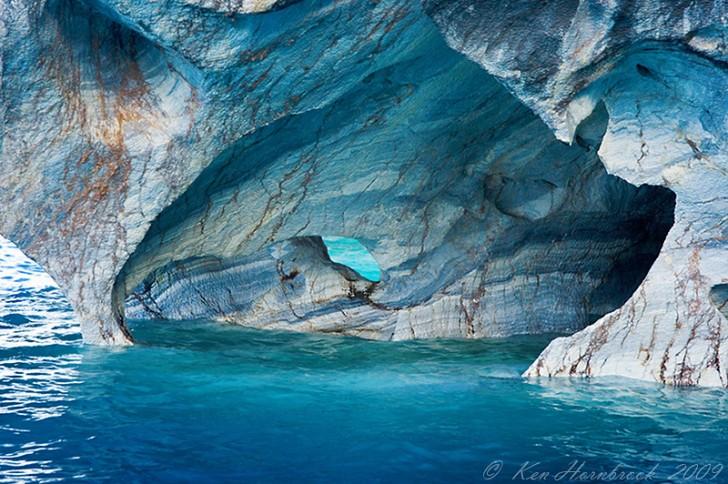 Σπήλαια μάρμαρο, Παταγονία, Χιλή