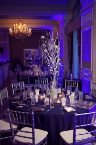White Branch Wedding Centerpiece with Jewel Rhinestones