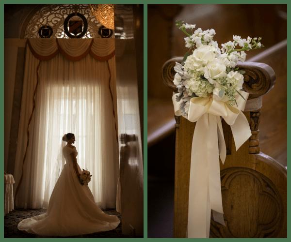 Bridal Portrait in Ivory, Justin Alexander Gown with Ivory Florals | Tampa Wedding Floral Designer Northside Florist
