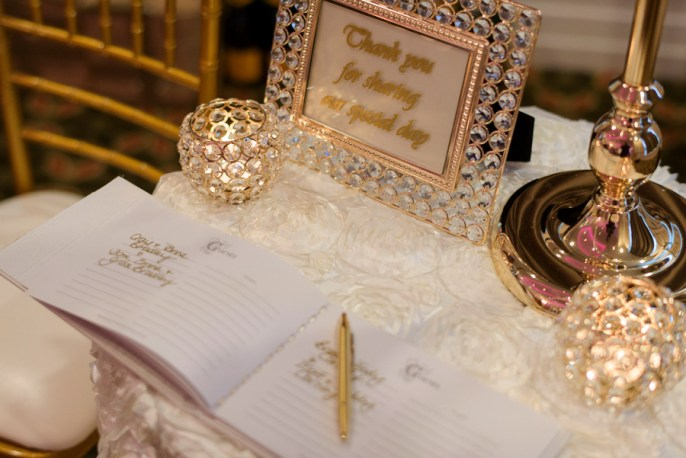 Peta-&-Dave-marriott-hotel-wedding-reception-styling-gift-table-gold-diamante-candle-holders-thank-you-sign