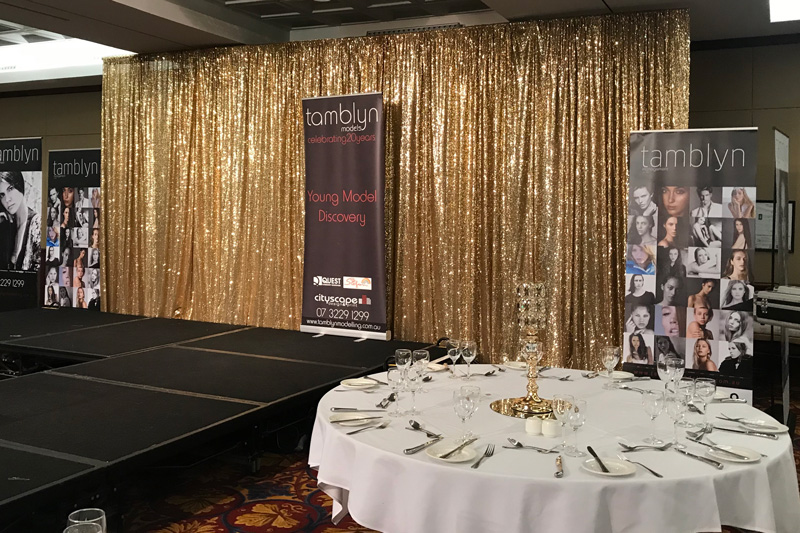 Gold Sequin Backdrop - Royal on the Park Hotel