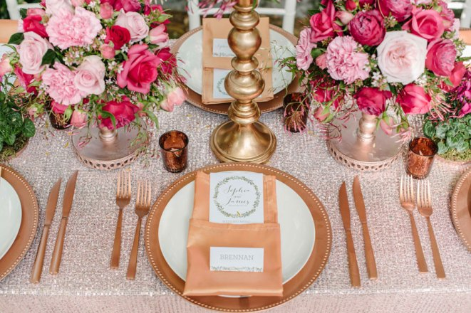 Copper Charger & Cutlery