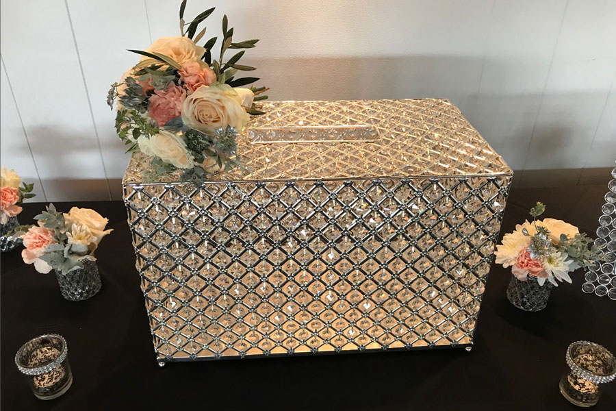 Silver Diamante Chest - Wishing Well