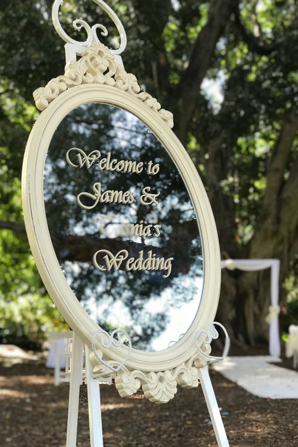 Personalised Welcome Mirror