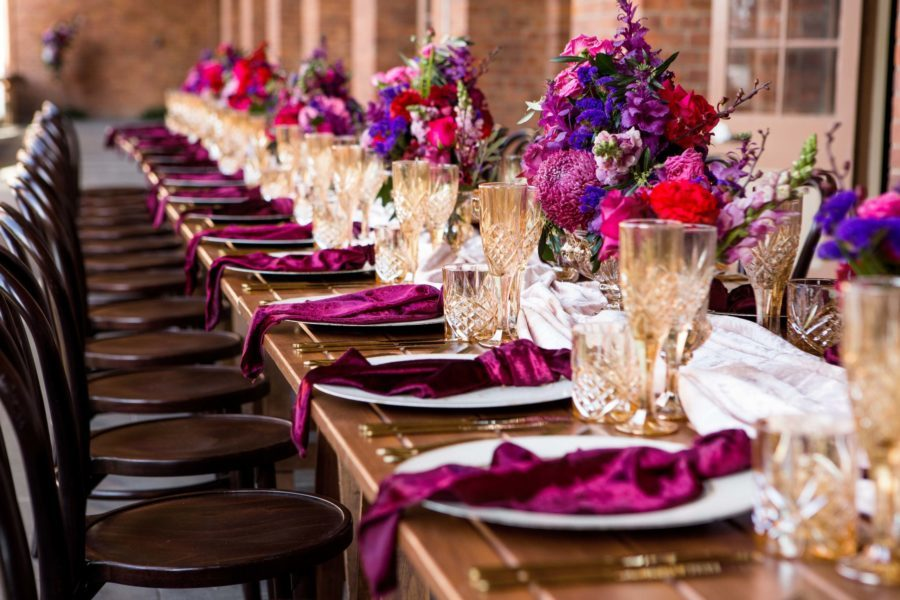 Old Museum Brisbane Wedding Table Setting