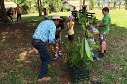 Planting trees with kids