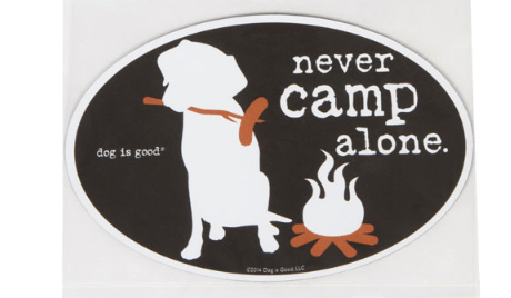 never camp alone car magnet at beautify the beast