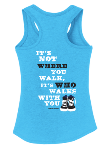 never walk alone women's tank back at beautify the beast