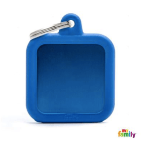 picture of blue hushtag name tag
