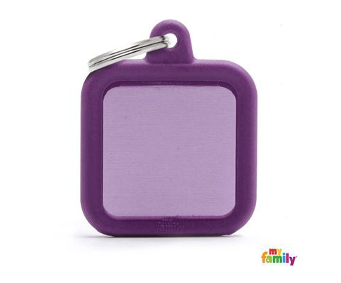 picture of purple hushtag name tag