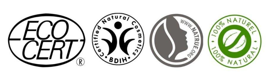 Luonnonkosmetiikan sertifikaatteja on useita, tässä muutama esimerkki