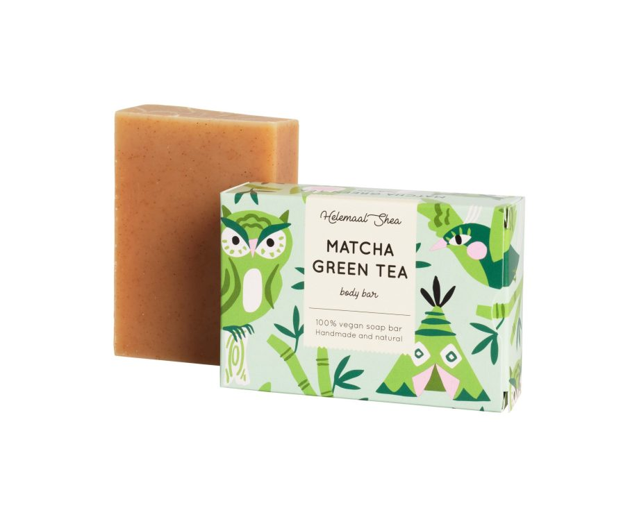 HelemaalShea Green tea Matcha vegaaninen luonnonkosmetiikka Saippua Beautiikki