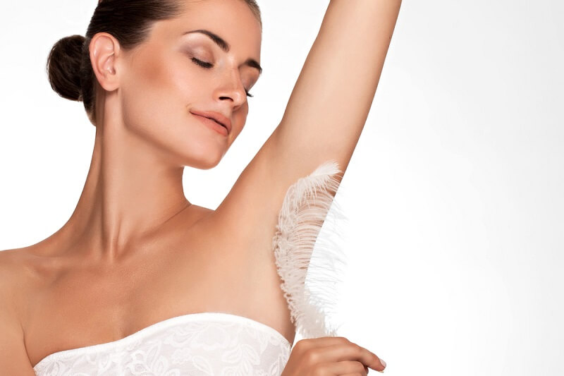 Smooth skin after waxing