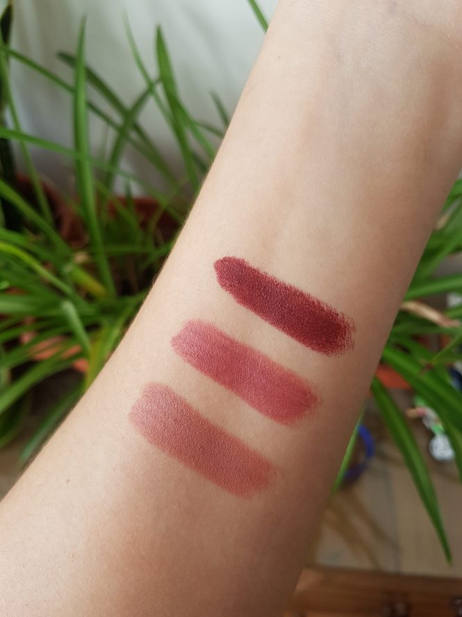bite beauty lipsticks swatches pepper honeycomb nori
