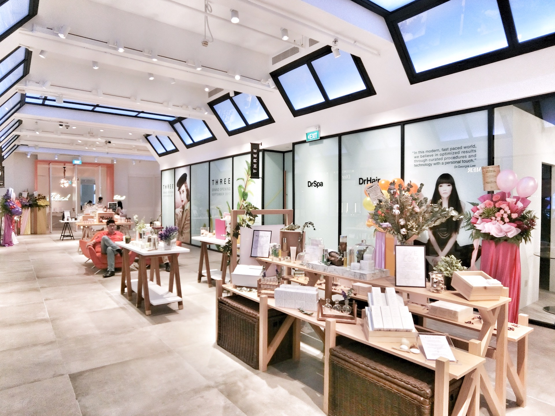 Three Cosmetics launches in Singapore at Tang Plaza, Orchard Road