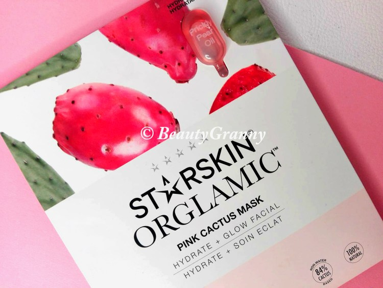 Starskin Orglamic Pink Cactus Glass Mask