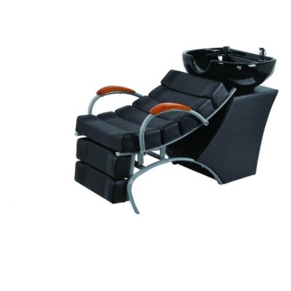 HL Λουτήρας Κομμωτηρίου 32950 Μαύρο Κάθισμα με Λευκή Λεκάνη