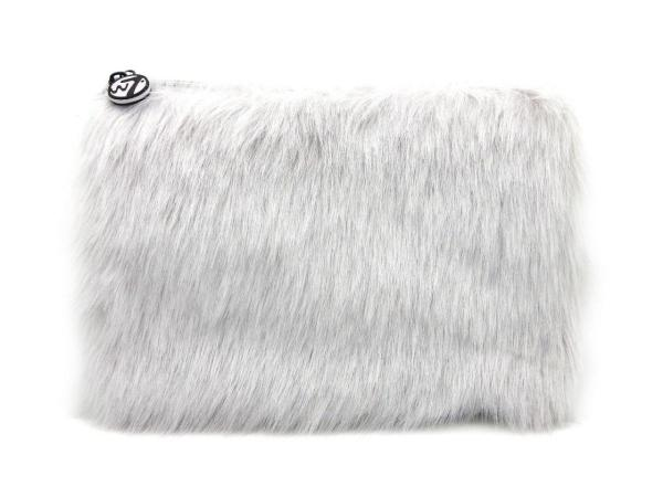W7 Fluffy/Furry Make-up Tasje - Large Grey