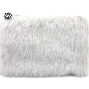 W7 Fluffy/Furry Make-up Tasje - Large Grey