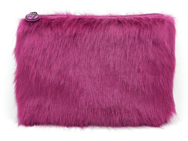 W7 Fluffy/Furry Make-up Tasje - Large Purple