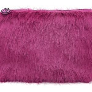 W7 Fluffy/Furry Make-up Tasje - Large Purple