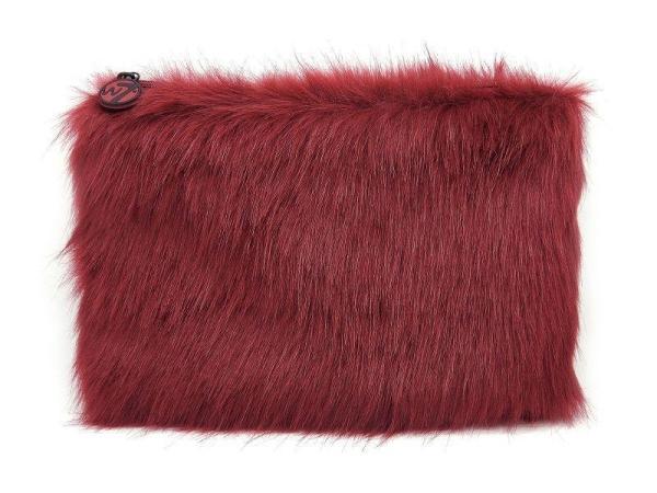 W7 Fluffy/Furry Make-up Tasje - Large Maroon
