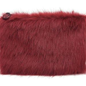 W7 Fluffy/Furry Make-up Tasje - Large Maroon