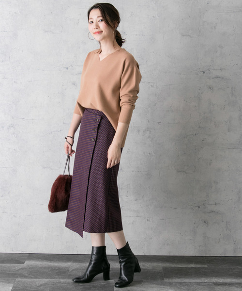 [URBAN RESEARCH ROSSO WOMEN] チェックラップスカート