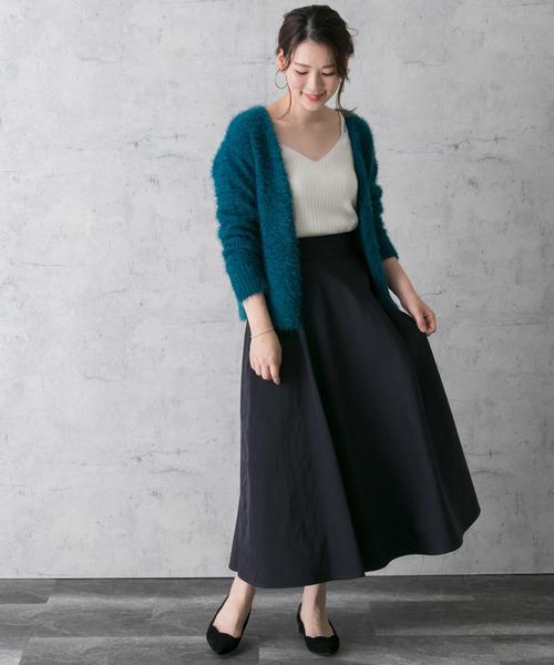 [URBAN RESEARCH ROSSO WOMEN] サテンサーキュラースカート