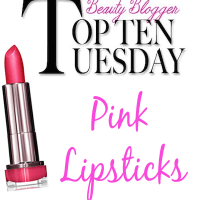 Top 10 Tuesday: Top 10 Pink Lipsticks