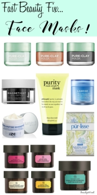 Need a fast beauty fix? Try a face mask!