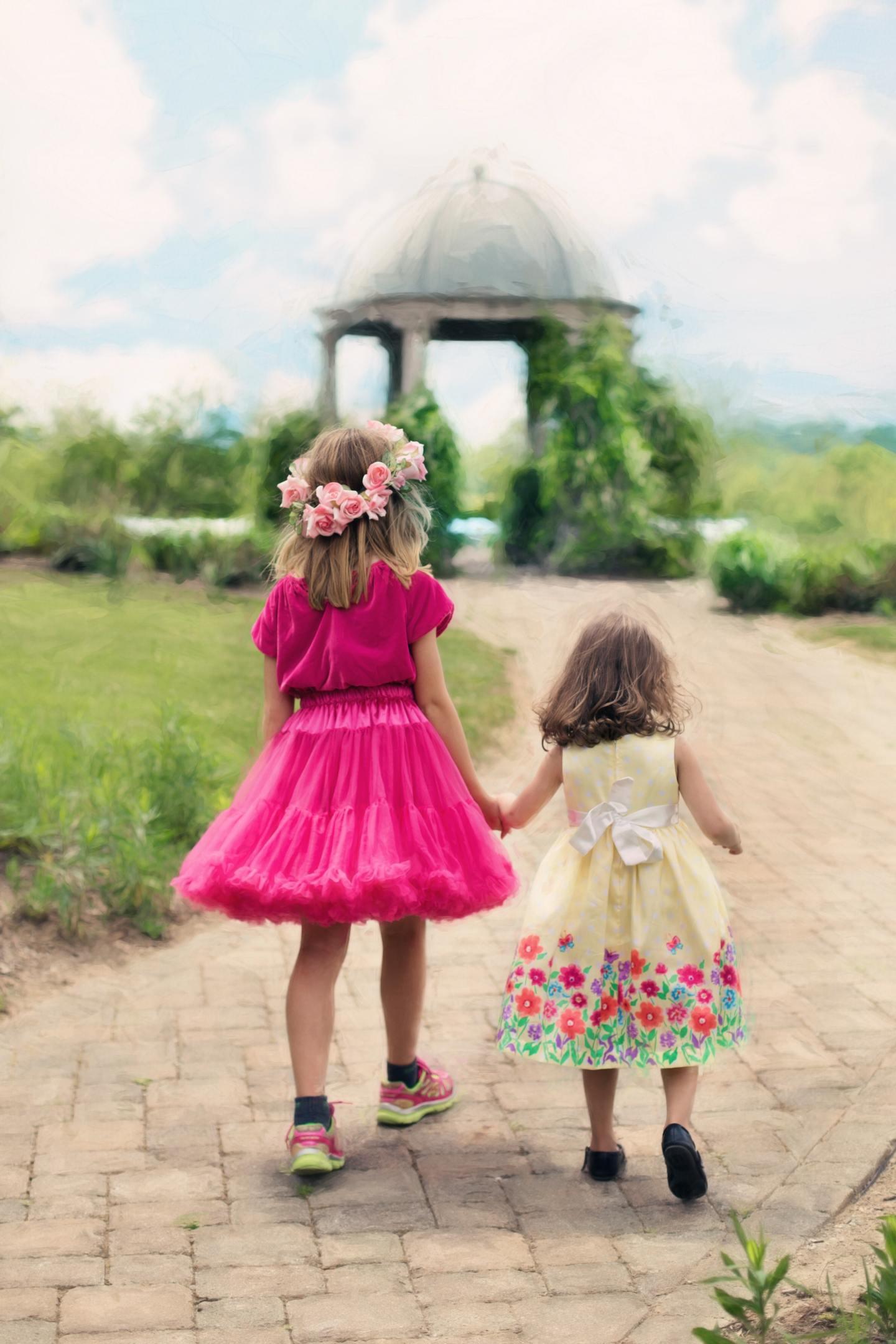 Children in pretty desses
