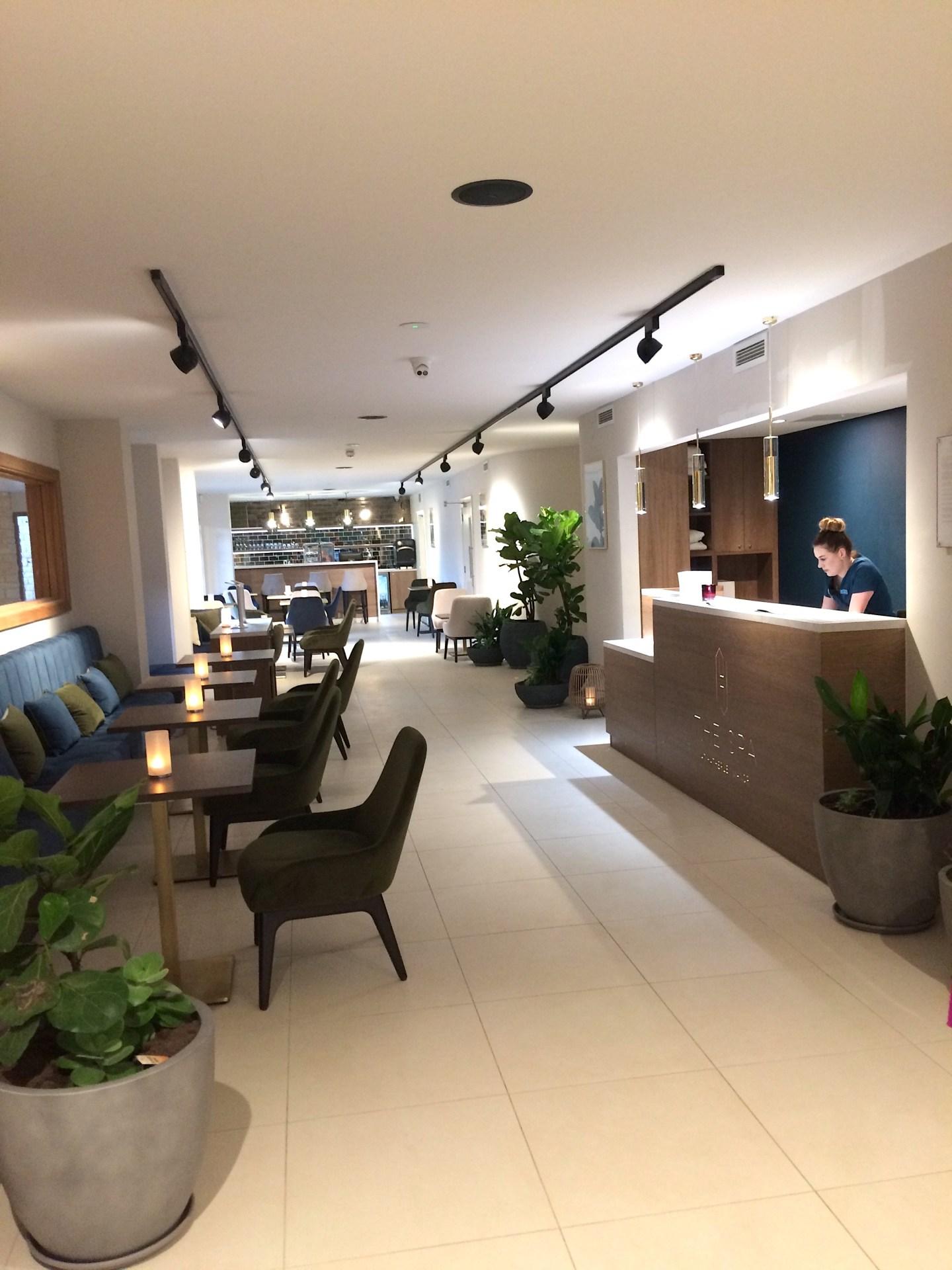 Spa Reception at Hatherley Manor Hotel