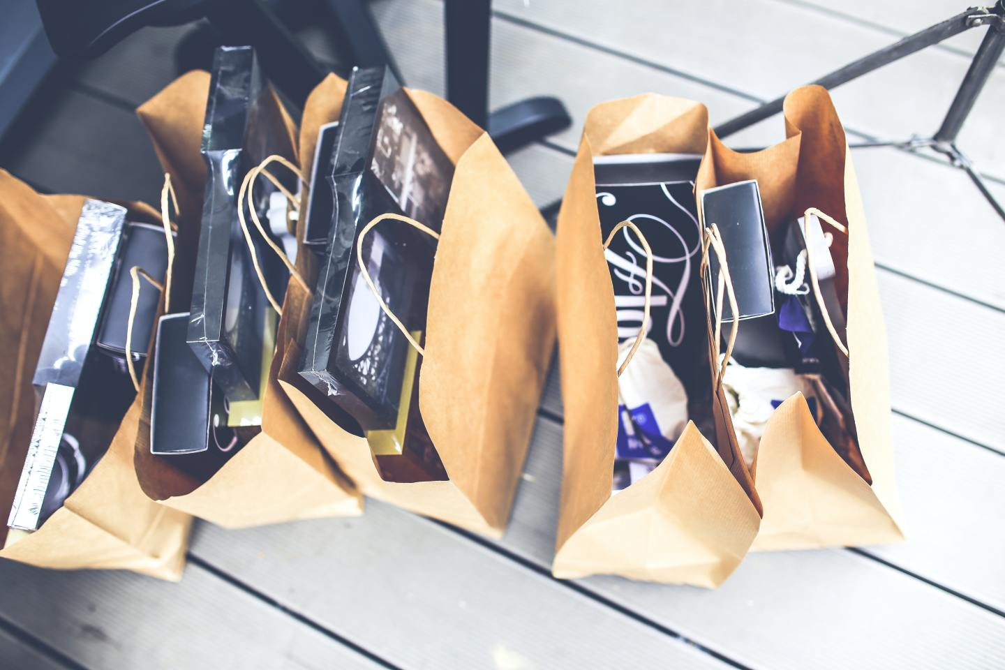 Bags full from a shoppers trip