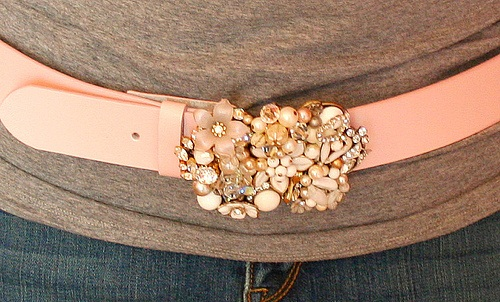 buckle using vintage jewelry Trash to Treasure: Ten DIY Projects Using Old Jewelry