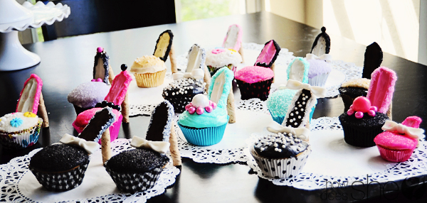 High Heel Cupcakes, High Heeled Cupcakes With Milano Cookies